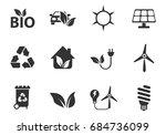 alternative energy professional ... | Shutterstock .eps vector #684736099