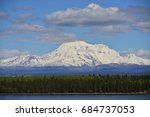 view on wrangell st. elias ... | Shutterstock . vector #684737053