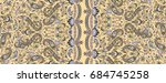 traditional indian paisley... | Shutterstock . vector #684745258