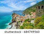 vernazza  cinque terre   ...   Shutterstock . vector #684749560