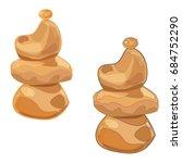 Balanced Cartoon Stones....