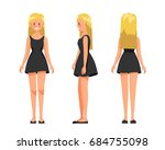 vector illustration of three... | Shutterstock .eps vector #684755098