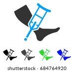 leg and crutch flat vector icon.... | Shutterstock .eps vector #684764920