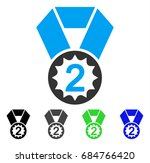 second place flat vector... | Shutterstock .eps vector #684766420