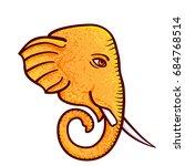 ganesh chaturthi  vector... | Shutterstock .eps vector #684768514