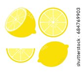 fresh lemon vector illustration   Shutterstock .eps vector #684769903