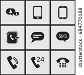set of 9 editable gadget icons. ...