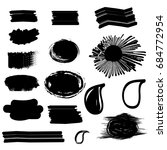 set of abstract brush strokes.... | Shutterstock .eps vector #684772954