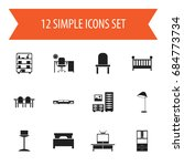 set of 12 editable furniture...
