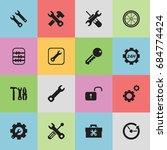 set of 16 editable repair icons....