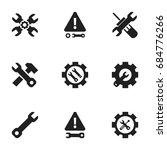 set of 9 editable repair icons. ...