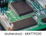 computer chip close up. hi tech ... | Shutterstock . vector #684779230