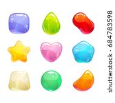 funny cartoon colorful jelly... | Shutterstock .eps vector #684783598