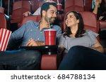 happy hispanic couple enjoying... | Shutterstock . vector #684788134