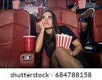 attractive young brunette... | Shutterstock . vector #684788158