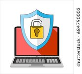 computer security  protect your ... | Shutterstock .eps vector #684790003
