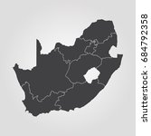 map of south africa | Shutterstock .eps vector #684792358