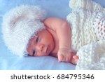 little newborn baby | Shutterstock . vector #684795346