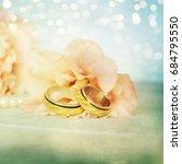 wedding rings | Shutterstock . vector #684795550