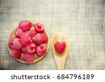 fresh rasberry | Shutterstock . vector #684796189