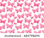 butterfly silhouette color... | Shutterstock . vector #684798694