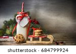 rustic christmas background... | Shutterstock . vector #684799924