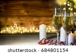 christmas rustic background... | Shutterstock . vector #684801154