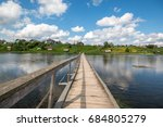 north russian village isady.... | Shutterstock . vector #684805279