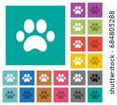 Paw Prints Multi Colored Flat...