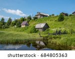 north russian village isady.... | Shutterstock . vector #684805363