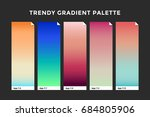 trendy gradient swatches.... | Shutterstock .eps vector #684805906