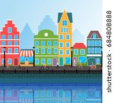 vector urban landscape. modern... | Shutterstock .eps vector #684808888