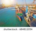 naples  italy   ship loading... | Shutterstock . vector #684811054