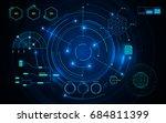 virtual sci fi circle hud ui...