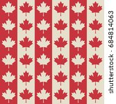 canadian flag symbols seamless... | Shutterstock .eps vector #684814063