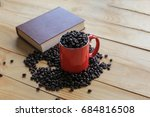 coffee beans placed on a white... | Shutterstock . vector #684816508