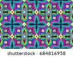 embroidery pattern. tribal... | Shutterstock .eps vector #684816958