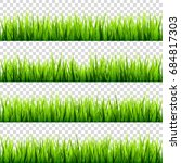grass isolated on transparent... | Shutterstock .eps vector #684817303