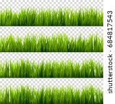 grass isolated on transparent... | Shutterstock .eps vector #684817543
