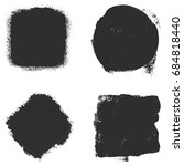 distress square set background... | Shutterstock .eps vector #684818440