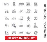 heavy industry  factory  plant  ... | Shutterstock .eps vector #684820318
