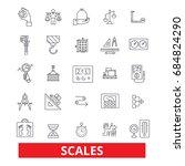 scales  measurement ... | Shutterstock .eps vector #684824290