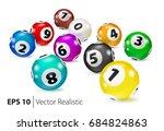 vector colorful bingo balls lie ... | Shutterstock .eps vector #684824863