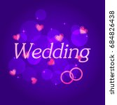 background bright wedding... | Shutterstock . vector #684826438