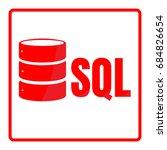 sql database icon logo design... | Shutterstock .eps vector #684826654