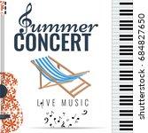 summer concert jazz and blues...   Shutterstock .eps vector #684827650