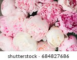 Pink Floral Background Of Fres...