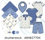 boys' fashion illustration with ... | Shutterstock .eps vector #684827704
