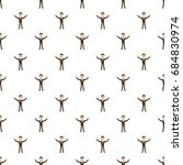 businessman with raised arms... | Shutterstock .eps vector #684830974