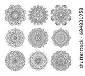 meditation pattern.... | Shutterstock . vector #684831958